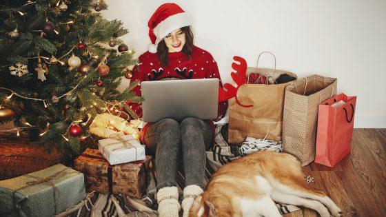 Online-Shopping zu Weihnachten