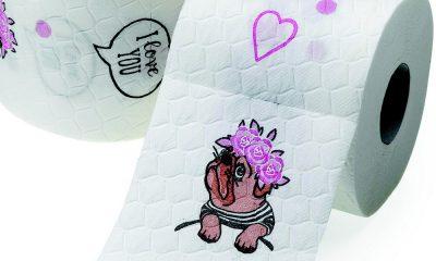 Toilettenpapier mit Möpsen