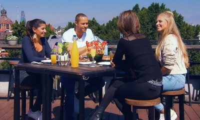 Andrej Mangold mit Eva, Jennifer und Vanessa