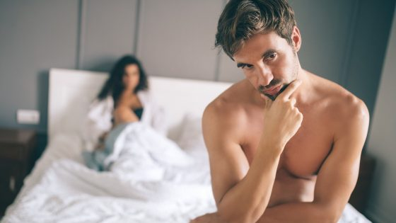 Ein Paar mit sexuellen Problemen