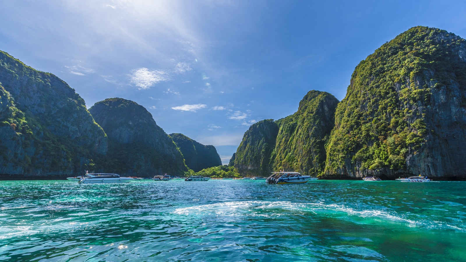 Maya Bay auf Phi Phi Inseln in Thailand