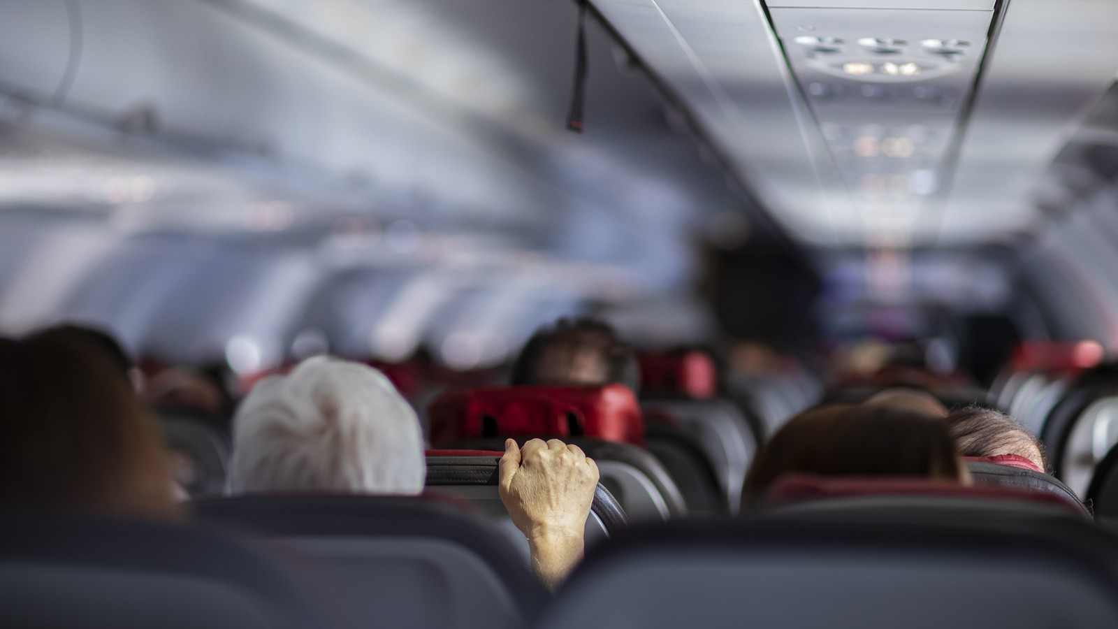 Kabine im Flugzeug