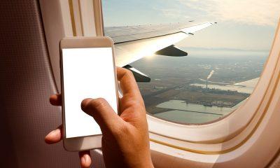 Handy im Flugzeug
