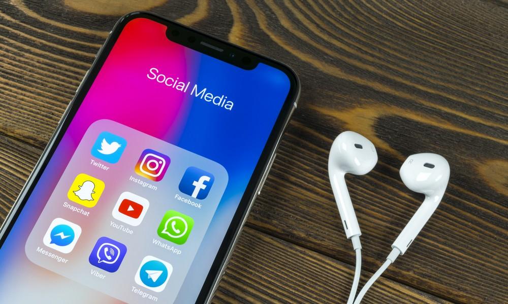 Social Netzwerke auf einem Smartphone
