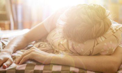 Ein Mann im Schlaf