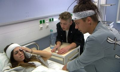 Kim im Krankenhaus