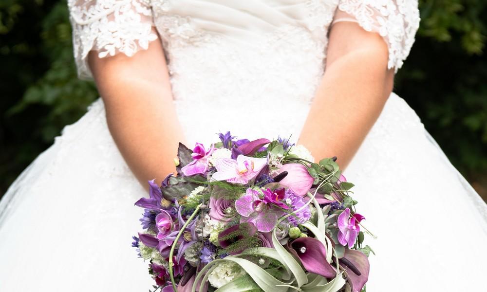 Sarafina Wollny im Brautkleid