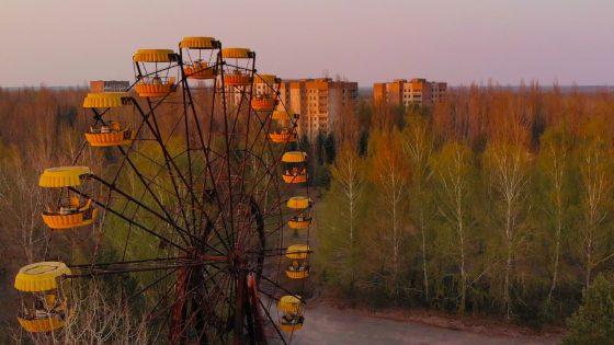 Verlassener Vergnügungspark in der Stadt Pripyat
