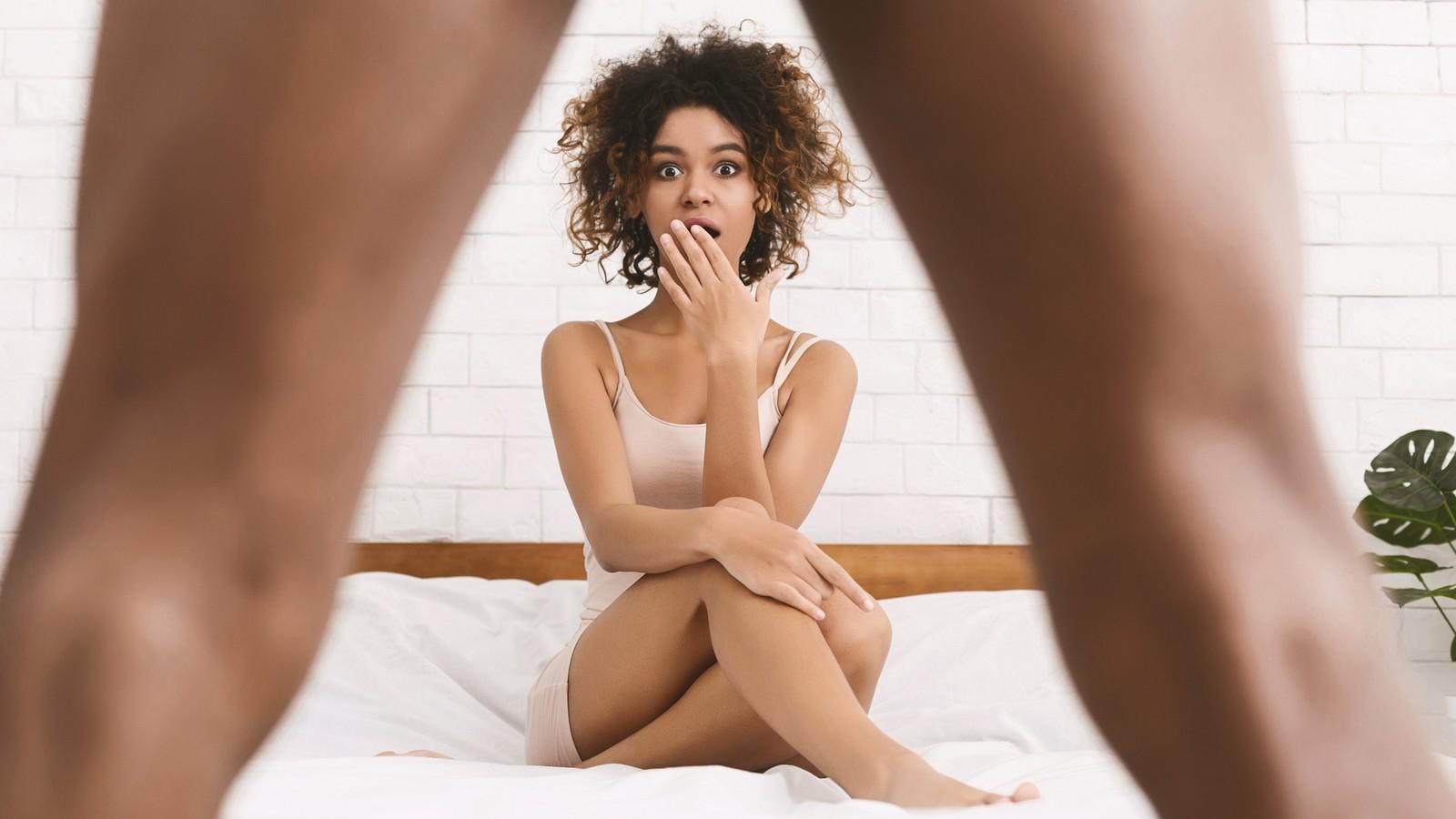 Steif penis länger Penisgrößen im