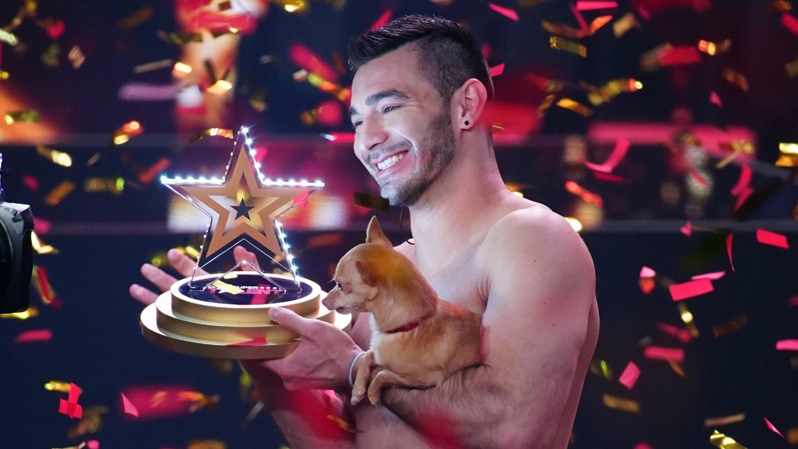 Christian und Hund Percy