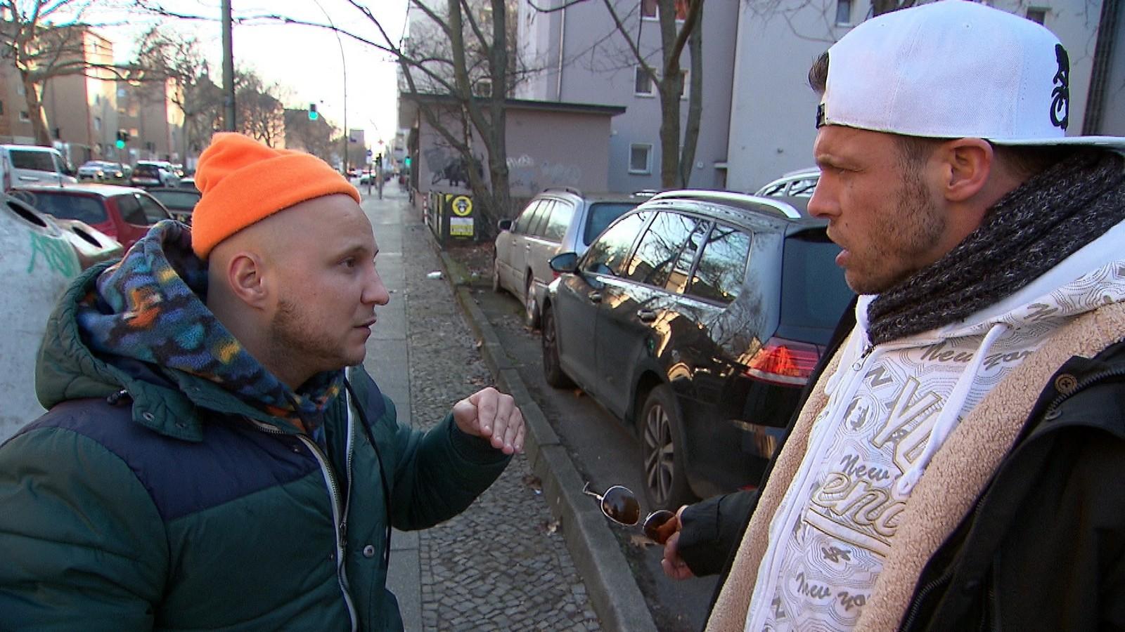 """Krätze und Basti bei """"Berlin - Tag & Nacht"""""""