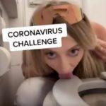 Corona-Challenge: Influencerin leckt Klo-Brille ab!