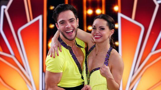 Luca Hänni und Christina Luft bei