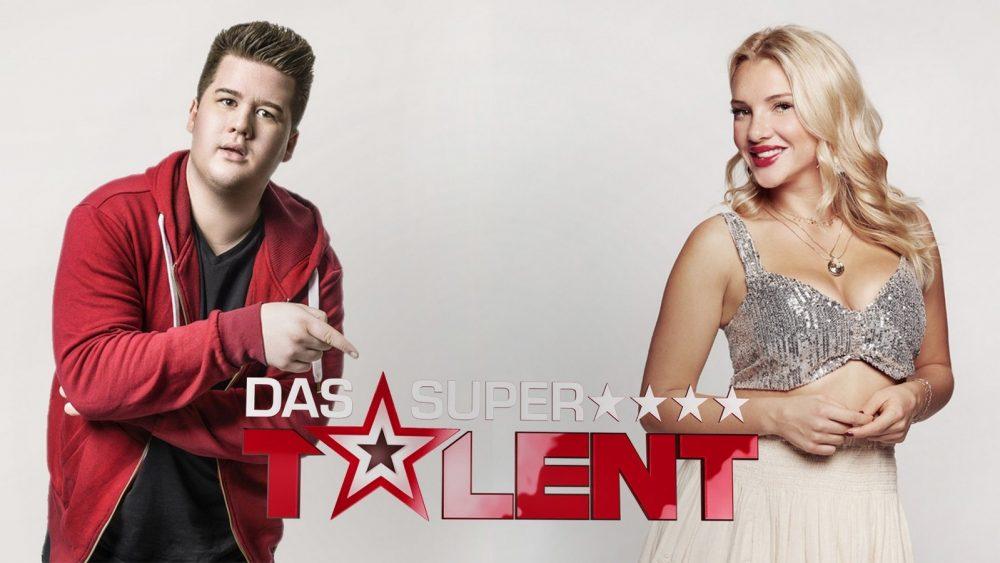 """Chris Tall und Evelyn Burdecki bei """"Das Supertalent"""""""