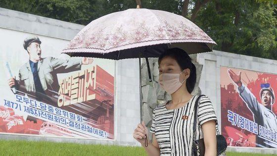 Eine Frau in Nordkorea