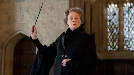 Maggie Smith alias Professor Minerva McGonagall