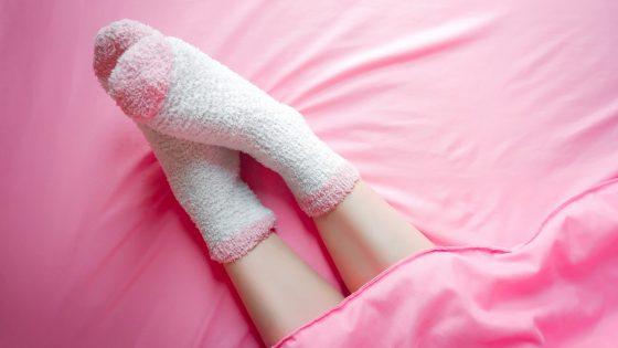 Socken im Bett