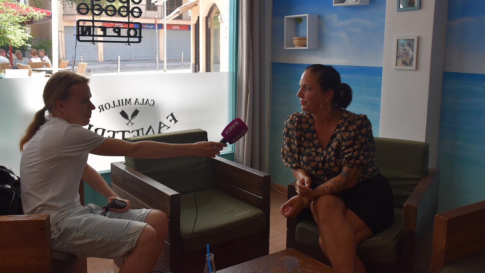 KUKKSI-Reporter Oliver Stangl und Daniela Büchner