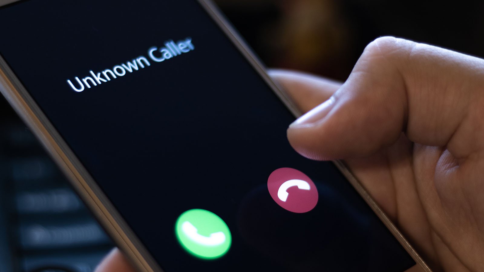 Callcenter Anrufer unbekannte Nummer