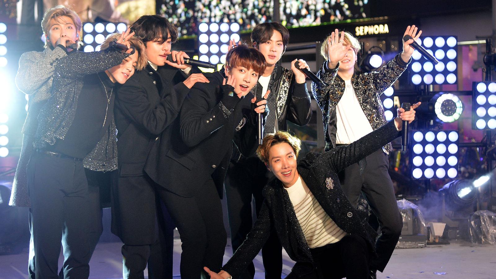 BTS machen Winterurlaub