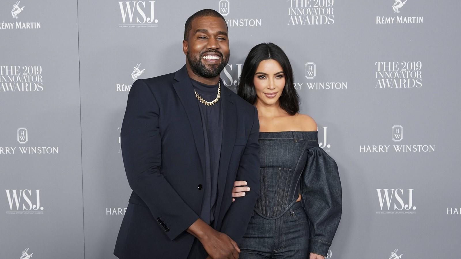 Kayne West und Kim Kardashian