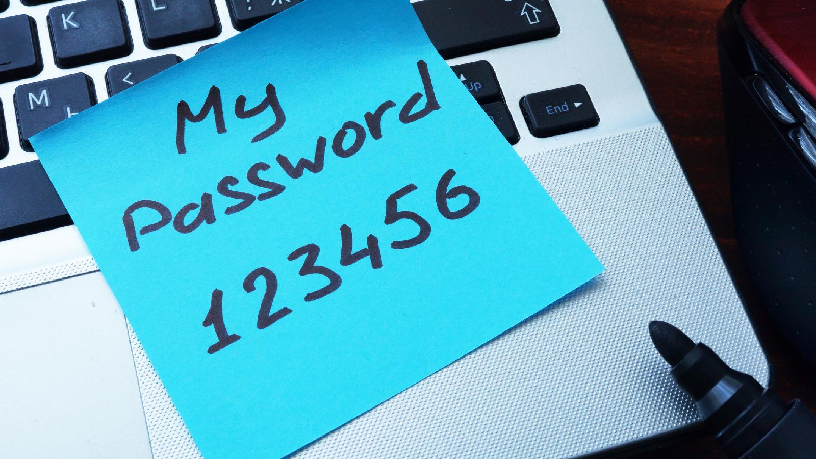 Das sind schlechte Passwörter