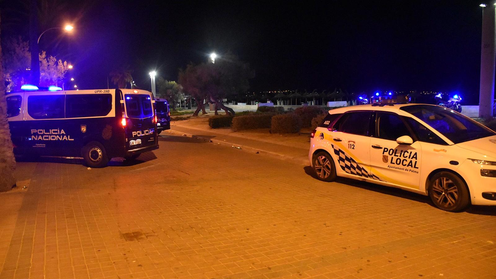 Polizei an der Playa de Palma auf Mallorca