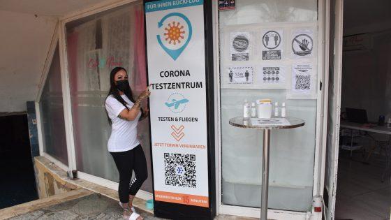 Corona-Testzentrum an der Playa de Palma