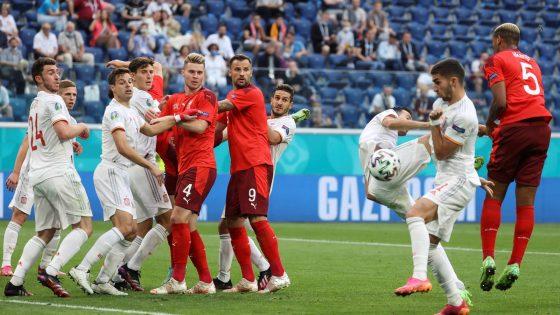 Schweiz gegen Spanien bei der Fußball-EM