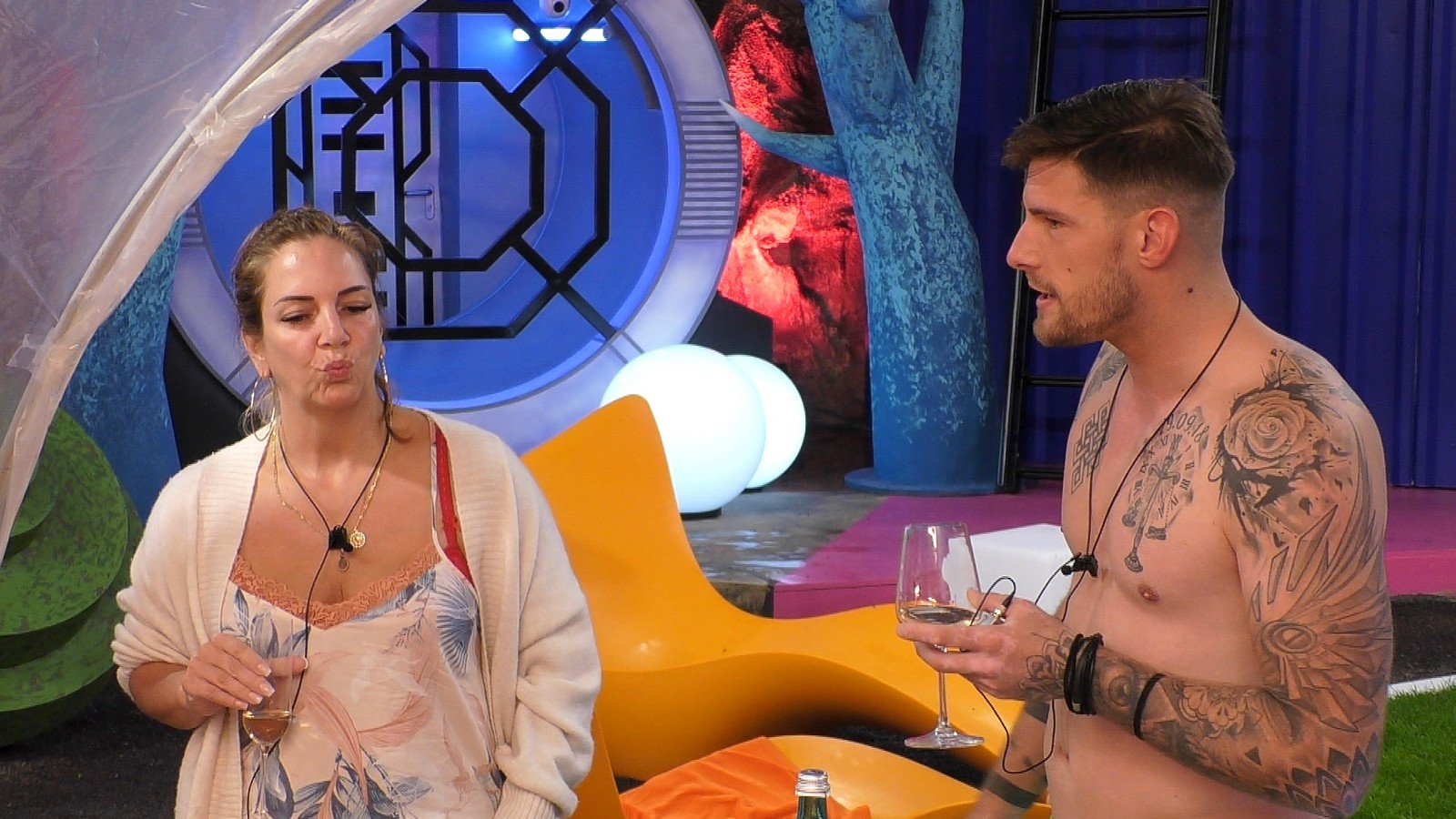 "Daniela Büchner und Pascal Kappés bei ""Promi Big Brother"""