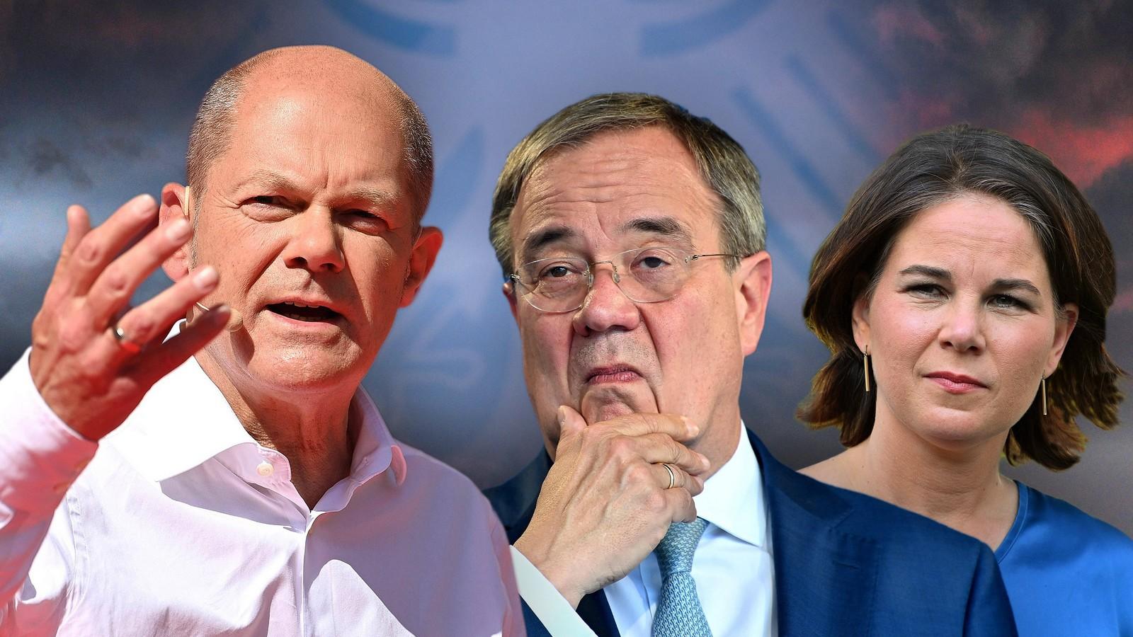 Olaf SCHOLZ (SPD),Armin LASCHET (CDU),Annalena BAERBOCK, (Buendnis 90/die Gruenen)